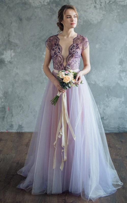 Lilac Wedding Serenity Dress - Dorris Wedding