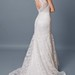 Sultry Cap-sleeved Slim-line Charmeuse With Lace Overlay Wedding Gown