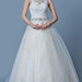 Elegant A-line Tulle Wedding Dress With Appliques and Beadings