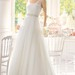 Sleeveless A-Line Tulle Long Dress With Beaded Waistband