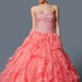 Grand Embroidered Sweetheart Ruffled Organza Quinceanera Ball Gown With Bolero