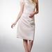 Elegant Ruffle Cap-sleeved Soft-ruched Satin Bridesmaid Dress