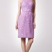 Sleeveless Jewel Neck Short Lace Dress With Keyhole Back