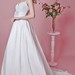 Romantic Spaghetti-strapped Sweetheart Layered Taffeta and Sheet Lace Wedding Gown