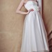 Distinctive Sheer Polka-Dot Short Wedding Dress With Natural Waistline