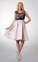 Enchanting Country Lace Short Dress with Sash Belt