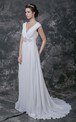 Sassy Draped Front Wedding Gown With Crystal Embellishment