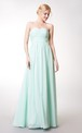 Ruched Sleeveless Long Chiffon Dress With Sash
