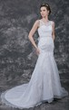 Gorgeous Lace Bridal Gown With a Plunge V Back Neckline and Crystal Belt