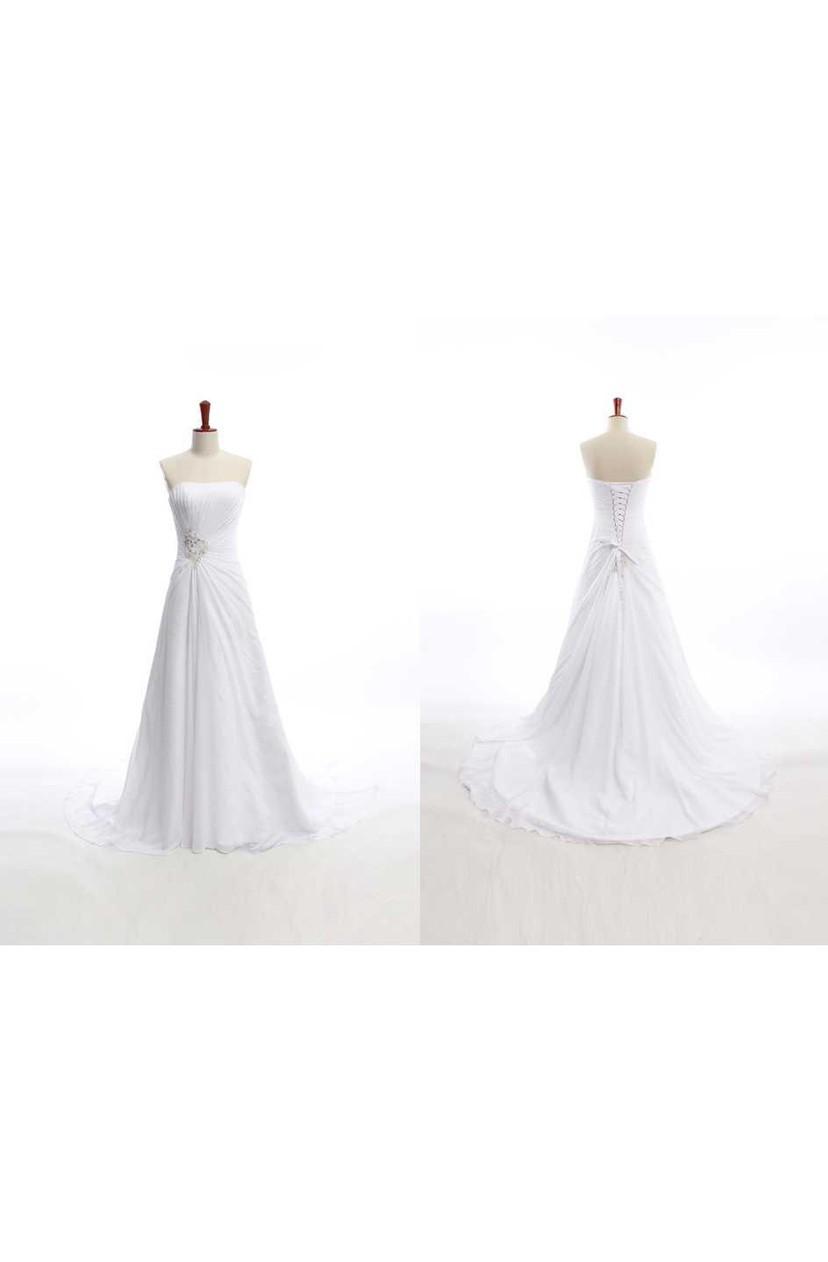 bc06f2a2be49 Sheath Tea-Length Bat Beading Appliques Chiffon Tulle Lace Dress - Dorris  Wedding