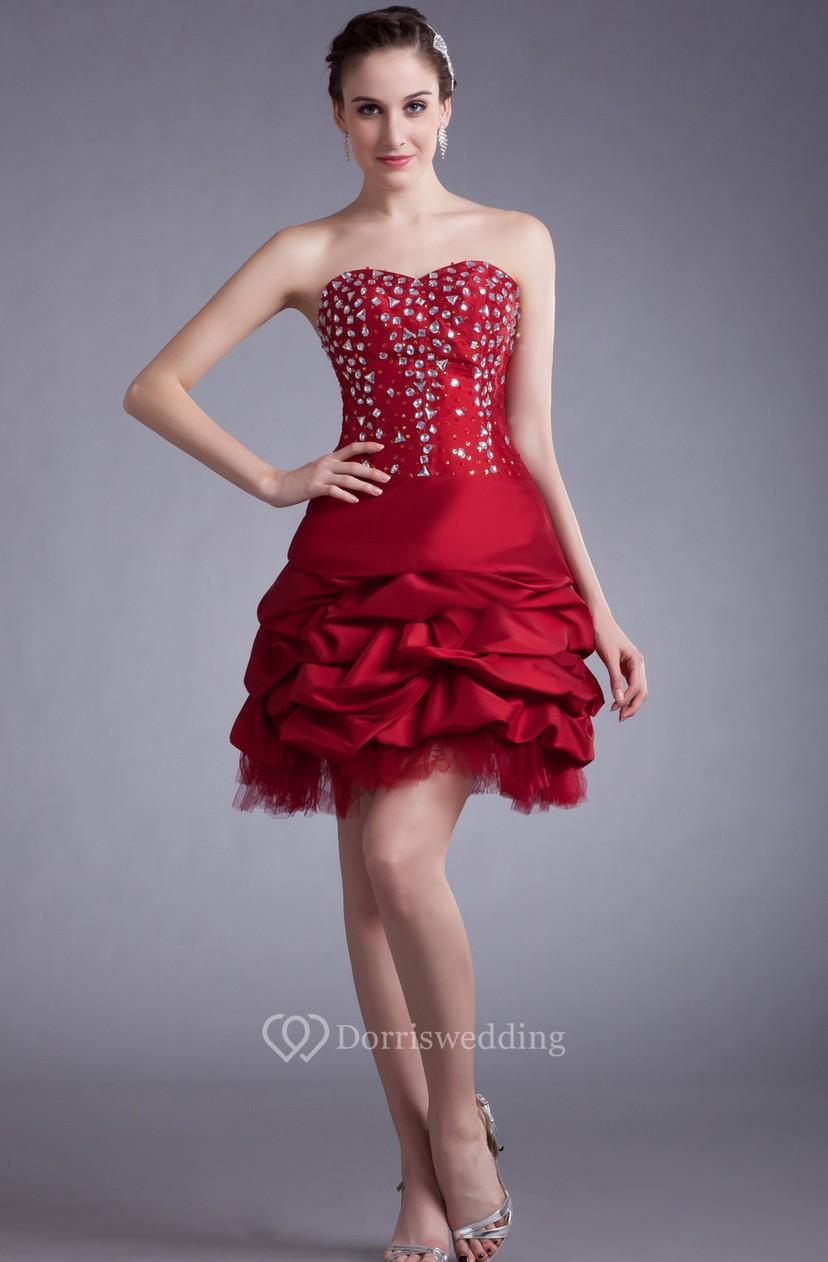 7cb45f9e259 Sweetheart Short Dress With Beading and Ruffles - Dorris Wedding