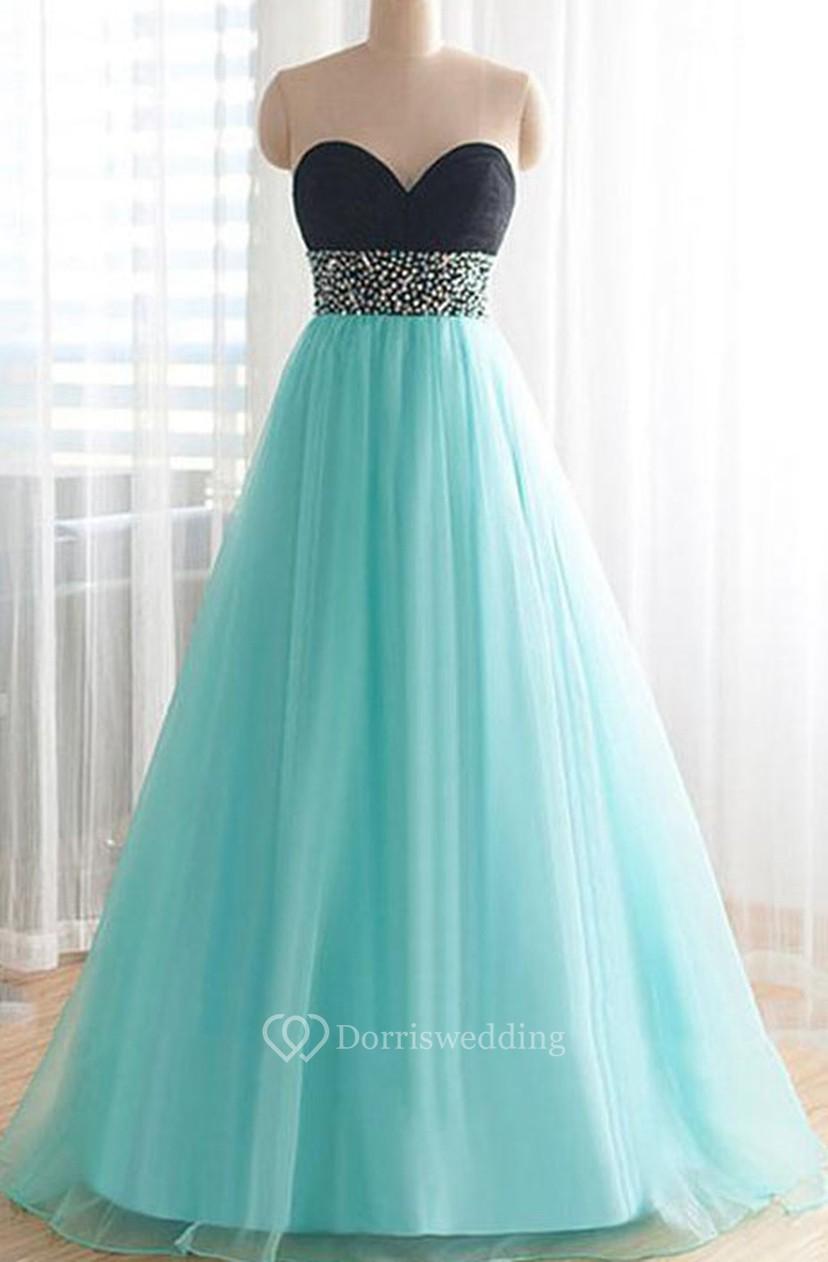 Pretty Sweetheart Floor-Length Beading Plus Size Prom Dress - Dorris ...