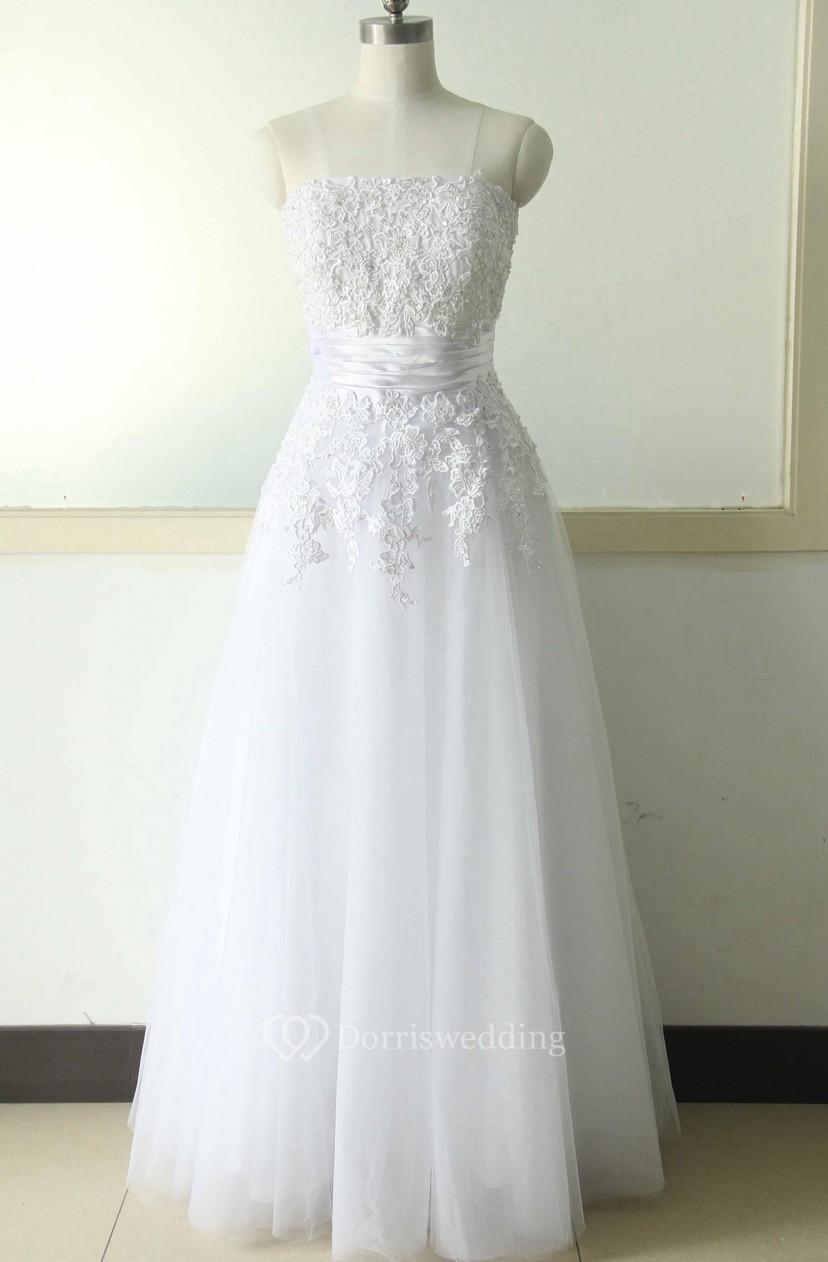 8bbce6cdeeab A-Line Tea-Length Straps V-Neck Beading Flower Split Flower Zipper Lace-Up  Back Straps Chiffon Tulle Lace Sequins Satin Dress - Dorris Wedding