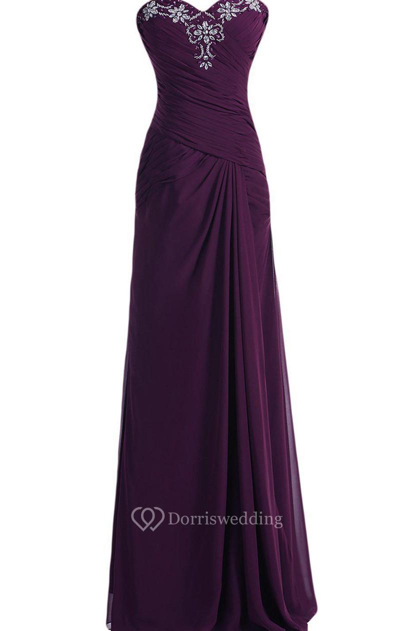 d38cbb0eb41 Sweetheart Chiffon Gown With Matching Jacket - Dorris Wedding