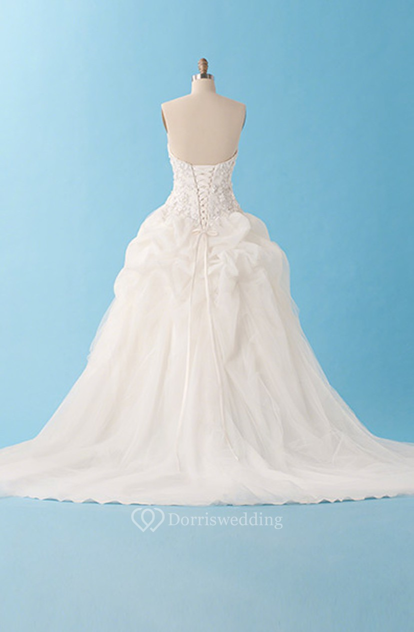 Exquisite Sweetheart Ball Gown With Ruffles - Dorris Wedding