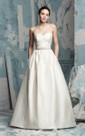 Sweetheart A-Line Dress With Crisscross Ruching And Beading
