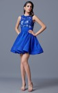 Lovely Sleeveless Short Tulle Dress with Lace Sheer Style