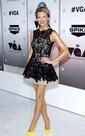 Crew Neckline Lace Appliqued A Line Knee Short Sheer Dress