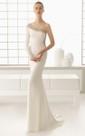 One-Shoulder Beaded Long-Sleeved Dress
