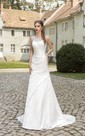 Floor-length Ruching Crystal Detailing Dress