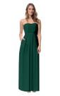 Chiffon Strapless Stylish Long Dress With Pockets