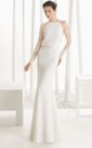 Long-Sleeved Jewel-Neck Style Dress With Illusion Back