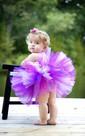 Lovely Purple White Tulle Flower Girl Dress With Ruffles