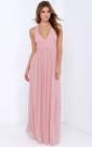 Chiffon A-Line Empire Long Brilliant Halter Dress