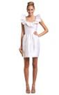 Satin Short Sleeveless Lovely Dress With Square Neckline