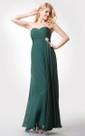 Scalloped-edge Neckline Long Chiffon Dress With Illusion Back