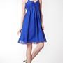 Strapped Sweetheart Empire Chiffon A-line Knee Length Dress