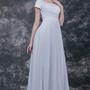 Classic Beaded Scoop-neck Empire Waist A-line Chiffon Wedding Gown