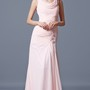 Classy Soft-pleated Cowl Neckline Beaded Long Formal Chiffon Dress