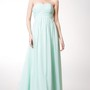 Ruched Sleeveless Long Chiffon Dress With Sash