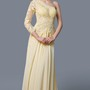 Magnificent One-sleeve Long Dress with Open Back and Lace Bodice