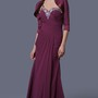Elegant Soft-ruched Beaded Sweetheart Long Formal Chiffon Dress With Jacket