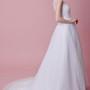 Elegant Long Wedding Dresses with Lace Illusion Style