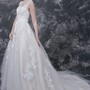 Vintage Lace & Tulle Wedding Ball Gown With Cap Sleeves and Appliques